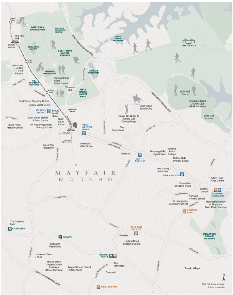 Mayfair Modern Location Map