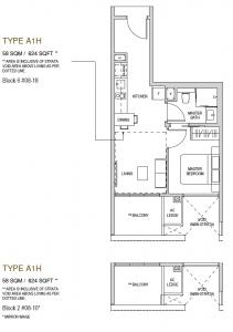 Mayfair modern Floor plan type A1h