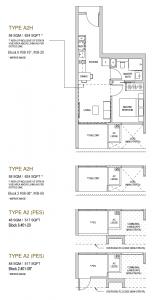 Mayfair modern Floor plan type A2H