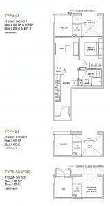 Mayfair modern Floor plan type A3