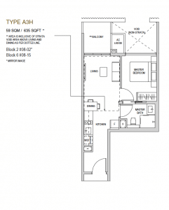 Mayfair modern Floor plan type A3h