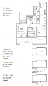 Mayfair modern Floor plan type B1h