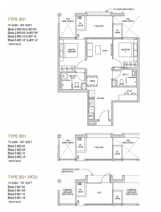 Mayfair modern Floor plan type BS1