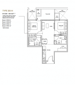 Mayfair modern Floor plan type BS1h