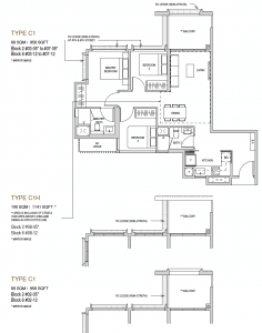 Mayfair modern Floor plan type C