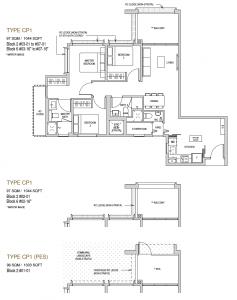 Mayfair modern Floor plan type CP1