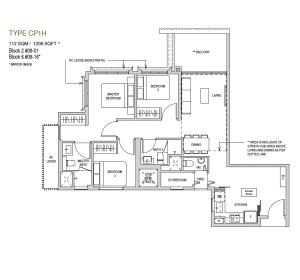 Mayfair modern Floor plan type CP1h