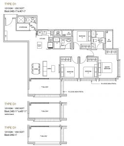 Mayfair modern Floor plan type D1