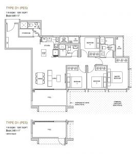Mayfair modern Floor plan type D1(PES)