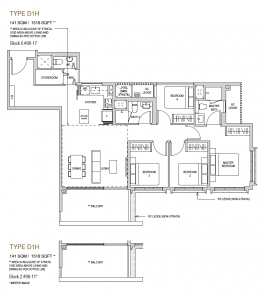 Mayfair modern Floor plan type D1h